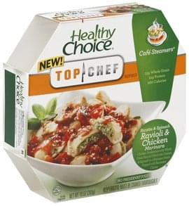 Healthy Choice Ricotta & Spinach Ravioli & Chicken Marinara