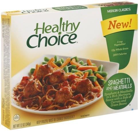 Healthy Choice Spaghetti and Meatballs - 12 oz