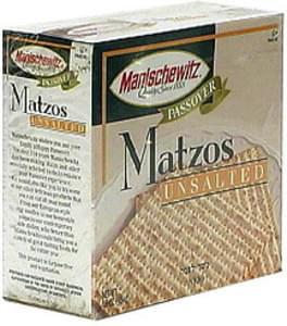Manischewitz Matzos, Unsalted