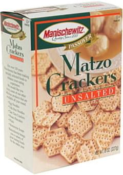 Manischewitz Miniature Matzo Crackers Unsalted