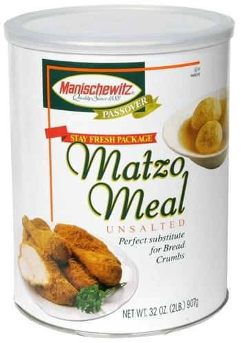 Manischewitz Unsalted Matzo Meal - 32 oz