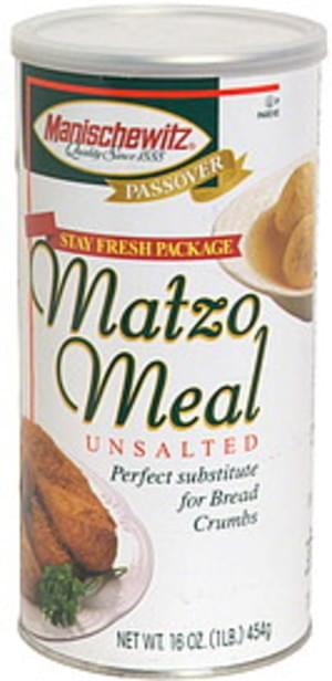 Manischewitz Unsalted Matzo Meal - 16 oz