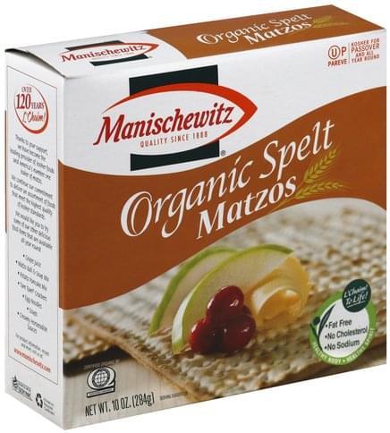 Manischewitz Organic, Spelt Matzos - 10 oz