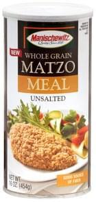 Manischewitz Matzo Meal Whole Grain, Unsalted