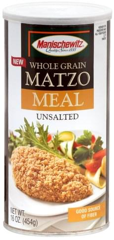 Manischewitz Whole Grain, Unsalted Matzo Meal - 16 oz