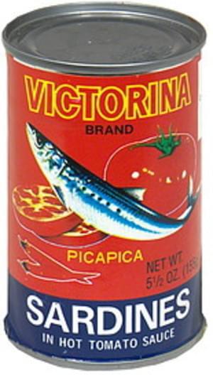 Victorina in Hot Tomato Sauce Sardines - 5.5 oz