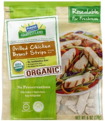 Perdue Organic, Grilled Chicken Breast Strips - 6 oz