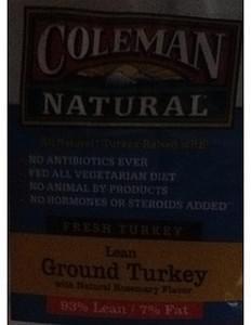 Coleman Natural Ground Turkey Lean