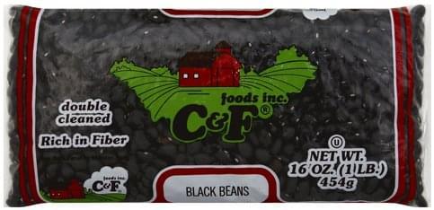 C & F Foods Black Beans - 16 oz