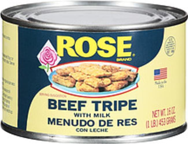 Rose Tripe W/ Milk Beef - 16 oz