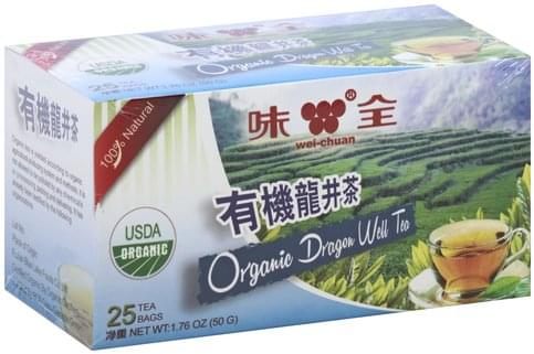 Wei-Chuan Dragon Well, Bags Organic Tea - 25 ea