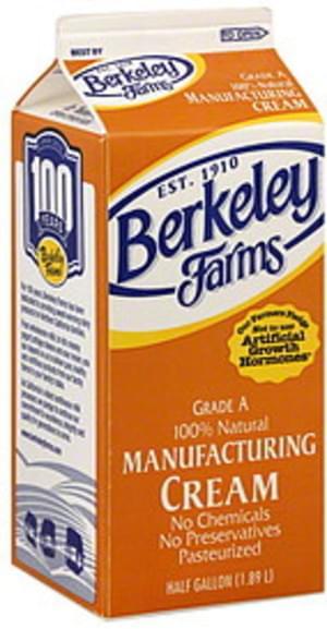 Berkeley Farms Manufacturing Cream - 0.5 gl