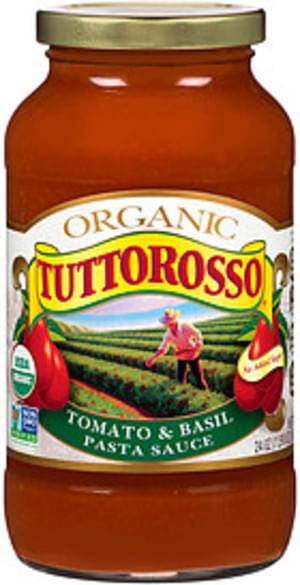 Tuttorosso Organic Tomato & Basil Pasta Sauce - 24 oz