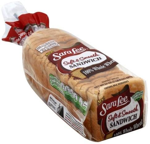 Sara Lee Bakery, Sandwich, 100% Whole Wheat Bread - 24 oz
