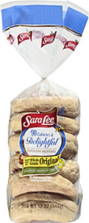 Sara Lee 90 Calories & Delightful English Muffin - 6