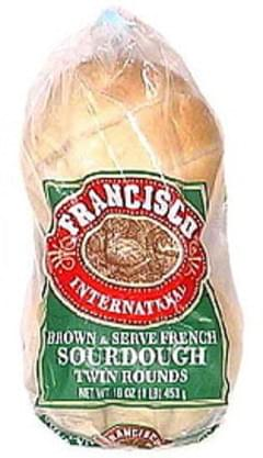 Francisco Brown & Serve French Sourdough Twin Bread Rounds