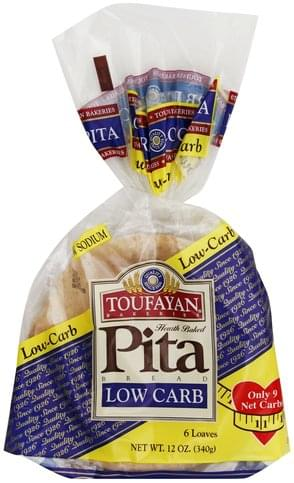 Toufayan Beat Bread, Low Carb Pita Bread - 6 ea