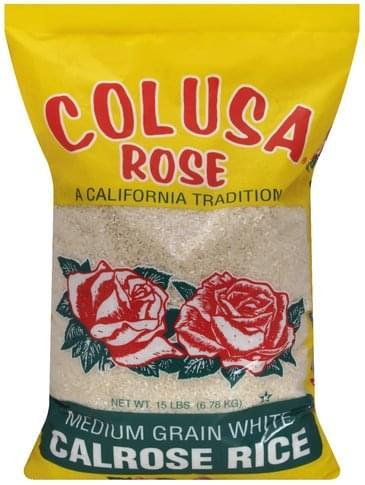 Colusa Rose Calrose, Medium Grain White Rice - 15 lb