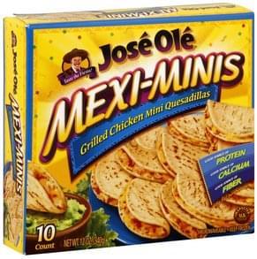 Jose Ole Grilled Chicken Mini Quesadillas