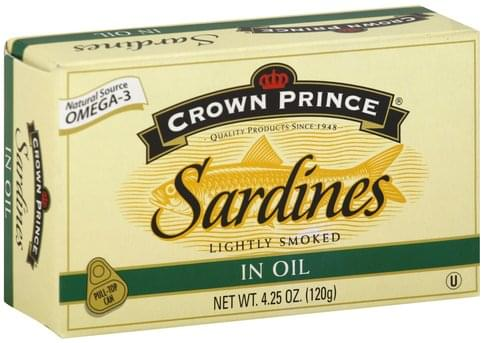 Crown Pre Lightly Smoked, in Oil Sardines - 4.25 oz