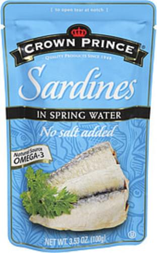 Crown Prince In Spring Water Sardines - 3.53 oz