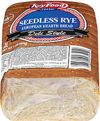Key Food Seedless Rye European Hearth Bread - 1 lb