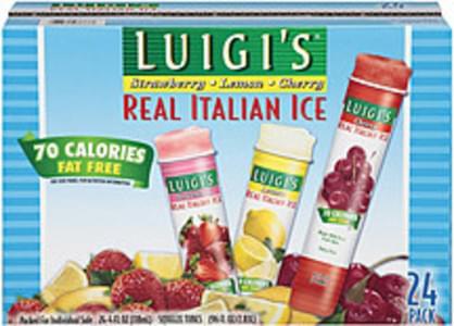 Luigi's Real Italian Ice Strawberry/Lemon/Cherry 4 Oz