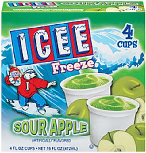 ICEE Sour Apple 4 Ct Freeze - 16 oz