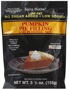 Sans Sucre Pie Filling and Pudding Mix Instant, Pumpkin