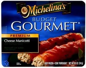 Budget Gourmet Premium Cheese Manicotti
