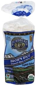 Lundberg Rice Cakes Organic, Brown Rice, Lightly Salted