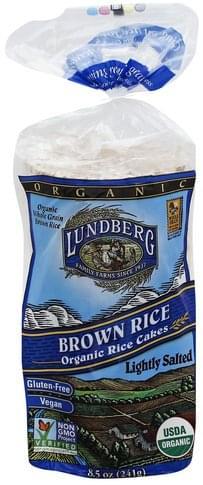 Lundberg Organic, Brown Rice, Lightly Salted Rice Cakes - 8.5 oz