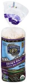 Lundberg Rice Cakes Organic, Brow Rice, Salt-Free