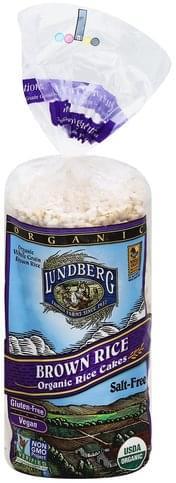 Lundberg Organic, Brow Rice, Salt-Free Rice Cakes - 8.5 oz