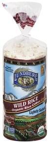 Lundberg Rice Cakes Organic, Wild Rice, Lightly Salted