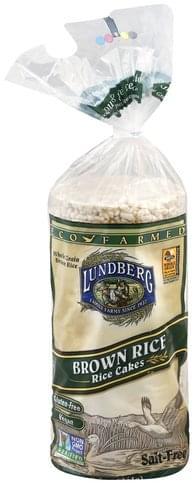 Lundberg Brown Rice, Salt-Free Rice Cakes - 8.5 oz