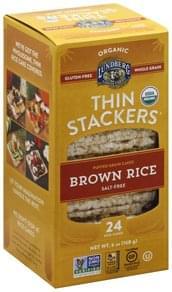 Lundberg Rice Cakes Organic, Salt-Free, Brown Rice