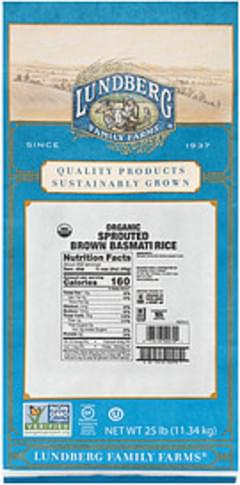 Lundberg Family Farms Lundberg Family Farms Organic Sprouted Brown Basmati Rice Organic Sprouted Brown Basmati