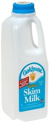 Oakhurst Skim, Fat Free Milk - 1 QT