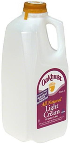 Oakhurst Light Cream - 0.5 gl