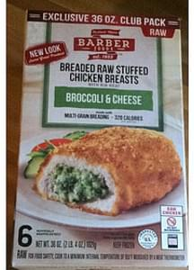 Barber Foods Breaded Raw Stuffed Chicken Breasts Broccoli & Cheese