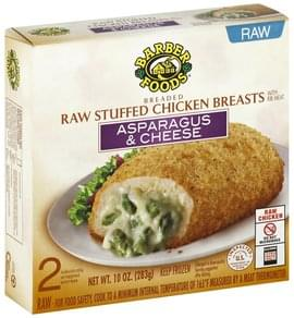 Barber Foods Stuffed Chicken Breasts Raw, Asparagus & Cheese