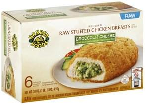 Barber Foods Stuffed Chicken Breasts Raw, Broccoli & Cheese