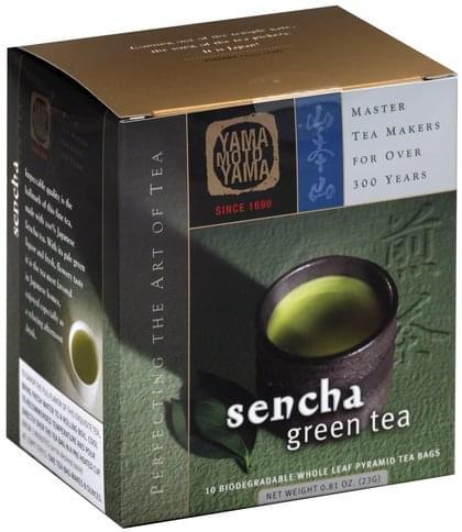 Yama Moto Yama Sencha, Biodegradable Whole Leaf Pyramid Tea Bags Green Tea - 10 ea