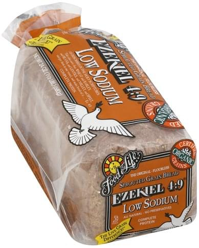 Food For Life Sprouted Grain, Low Sodium Bread - 24 oz