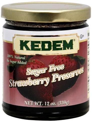Kedem Sugar Free, Strawberry Preserves - 12 oz