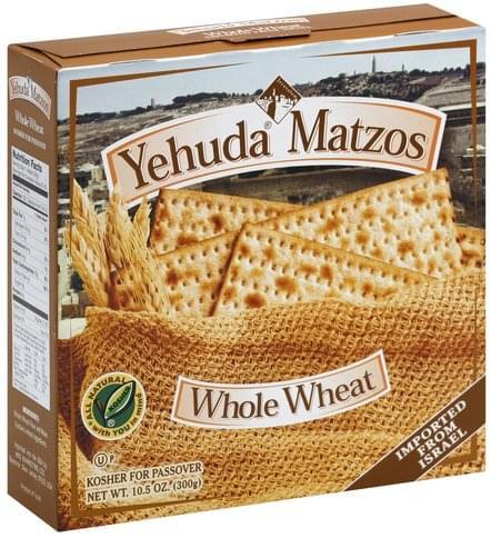 Yehuda Matzos Whole Wheat Matzos - 10.5 oz