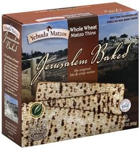 Yehuda Matzos Matzo Thins Whole Wheat