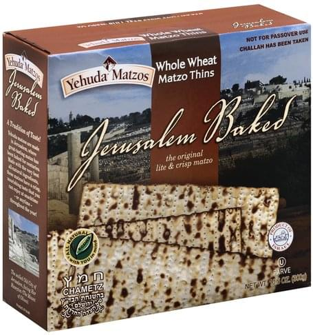 Yehuda Matzos Whole Wheat Matzo Thins - 10.5 oz
