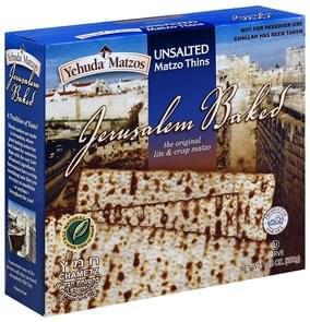 Yehuda Matzos Matzo Thins Unsalted